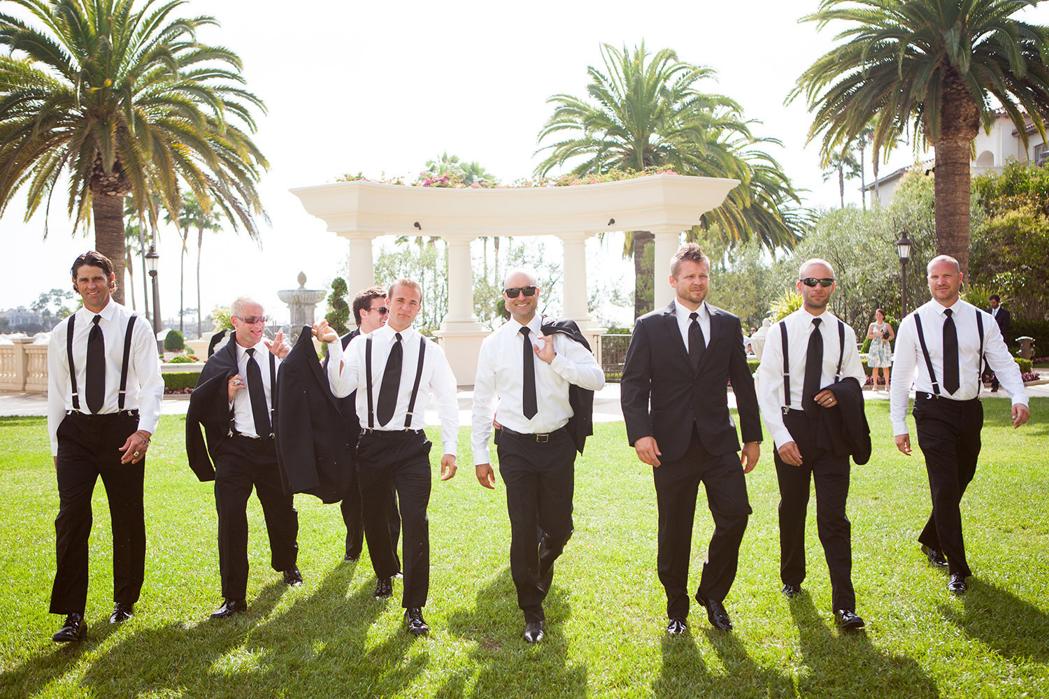 reservoir dogs styled groomsmen shot