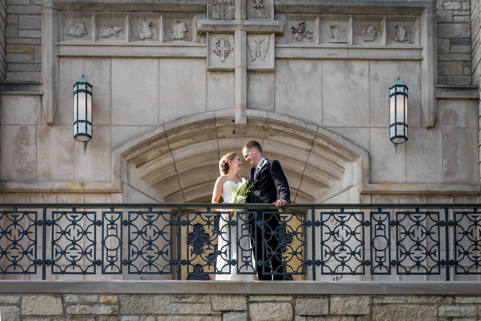 wedding-bride-groom-church-st-charles-balcony