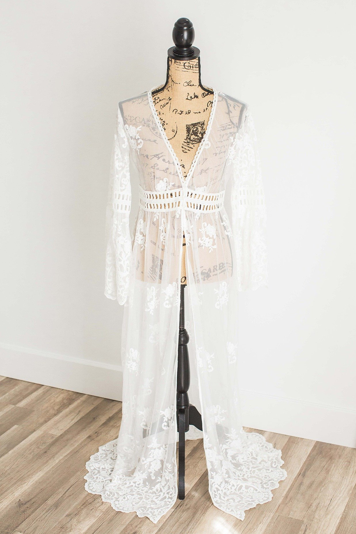 Boho White Duster Lingerie Gown Yours Truly Portraiture-1