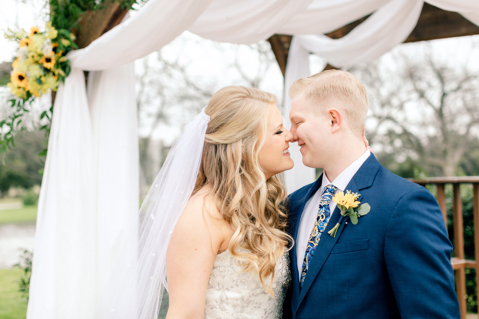 Jodi and Tyler's beautiful spring wedding photography at the Orchard in Azle, Texas.