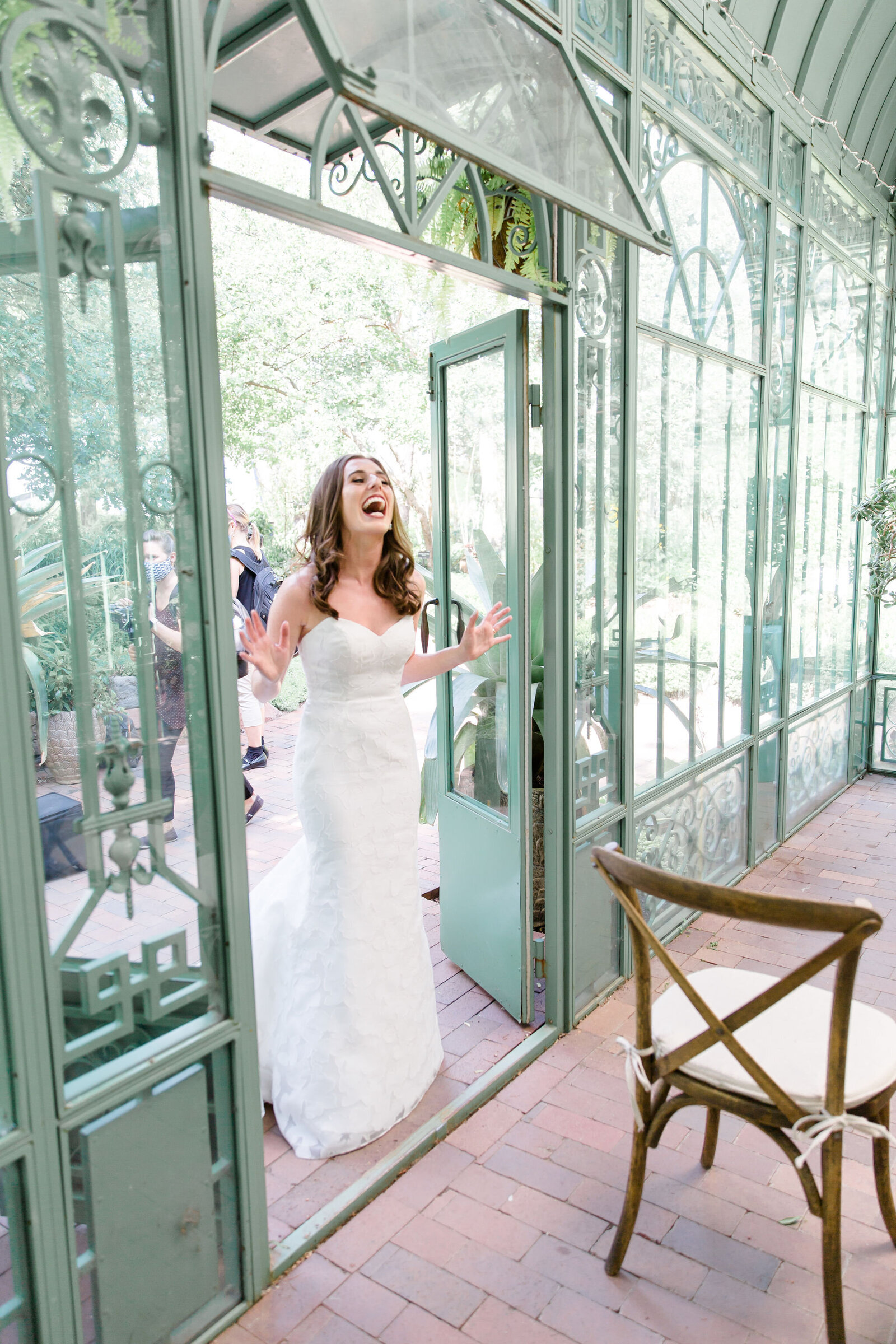 First Look, Michele with one L, Woodland Mosaic Wedding