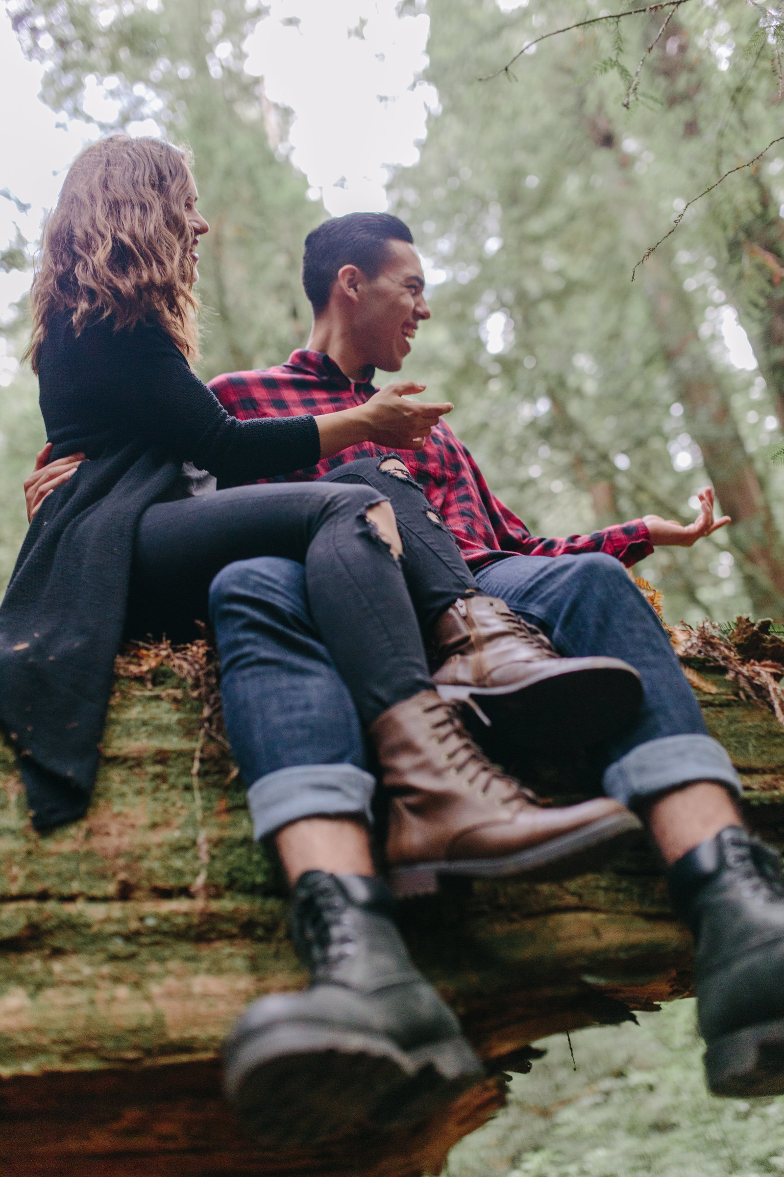 Redwood National Park Avenue of the Giants Engagement Session -7726