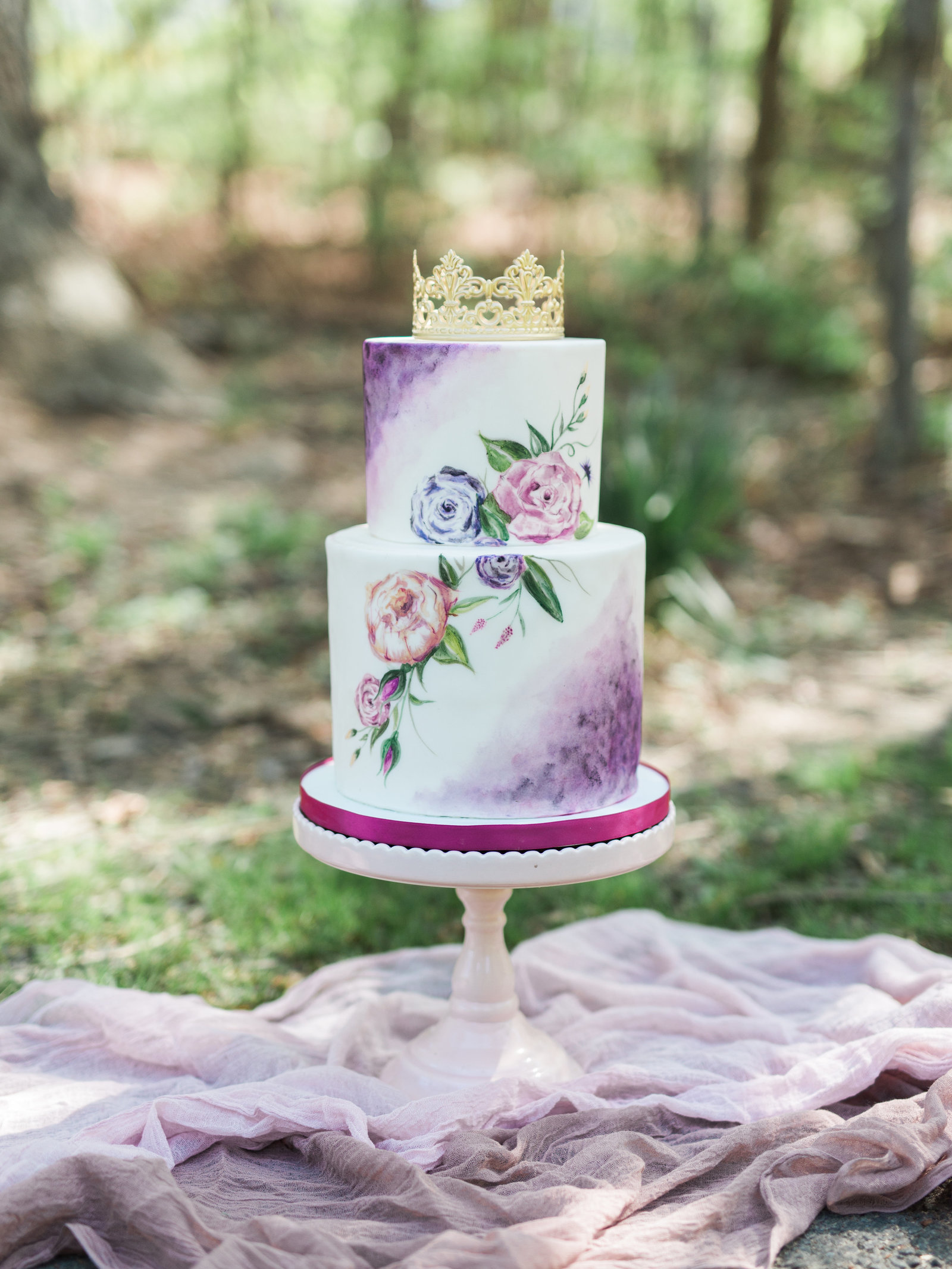 Sleeping Beauty  wedding cake  Inspired Styled Shoot at Swannanoa-Images for Submissi-0166 (2)