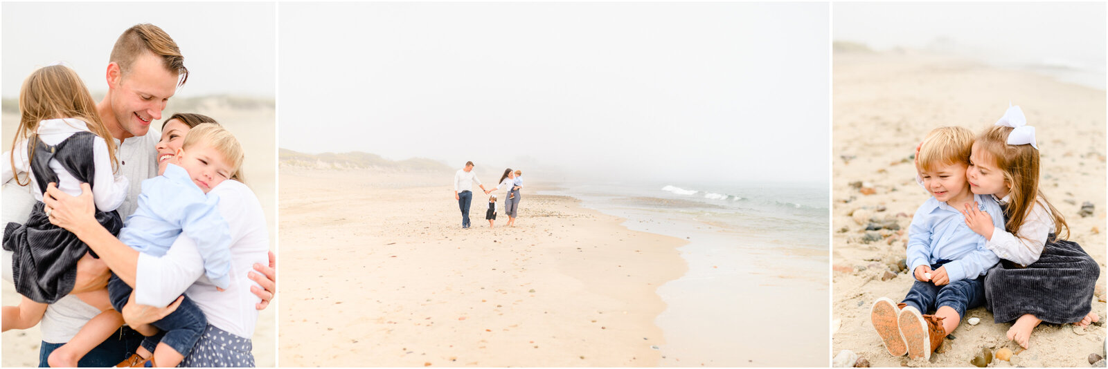 Massachusetts beach family portraits