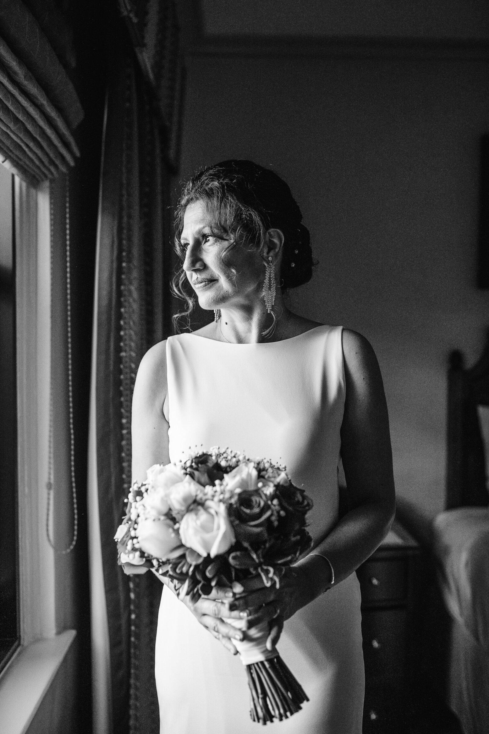portrait of a woman before elopement ceremony