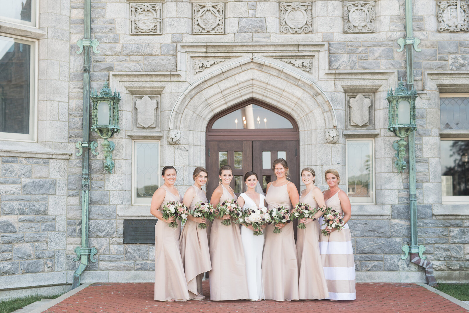 champagne colored bridesmaids dresses_1