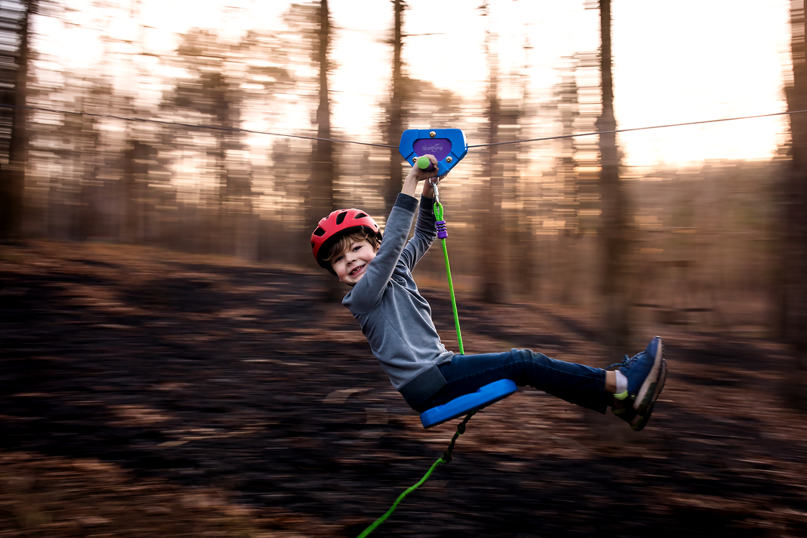 family photographer, columbus, ga, atlanta, documentary, photojournalism, boy on zipline, motion blur__8182-2
