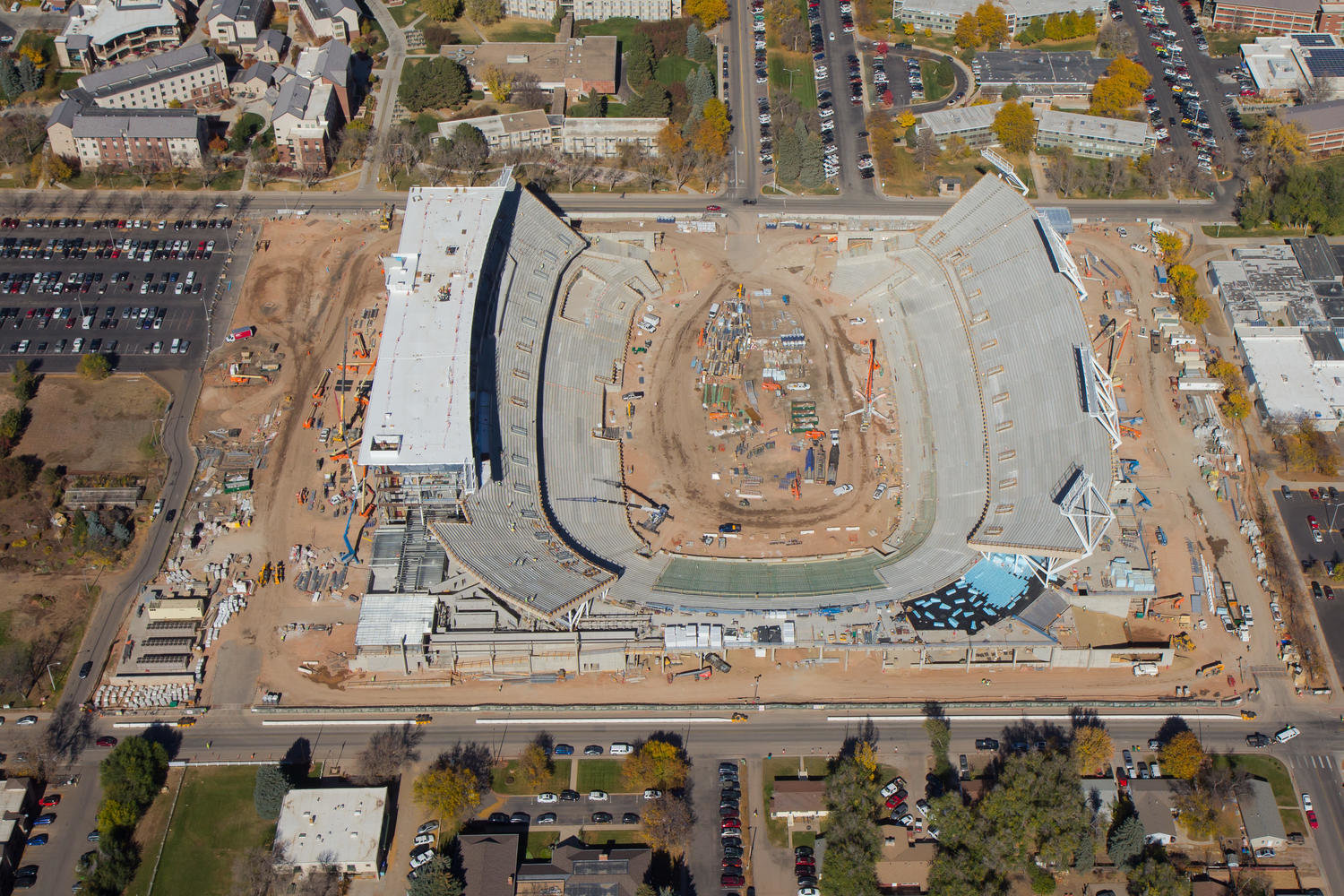 Colorado State Stadium Aerial Photo 5