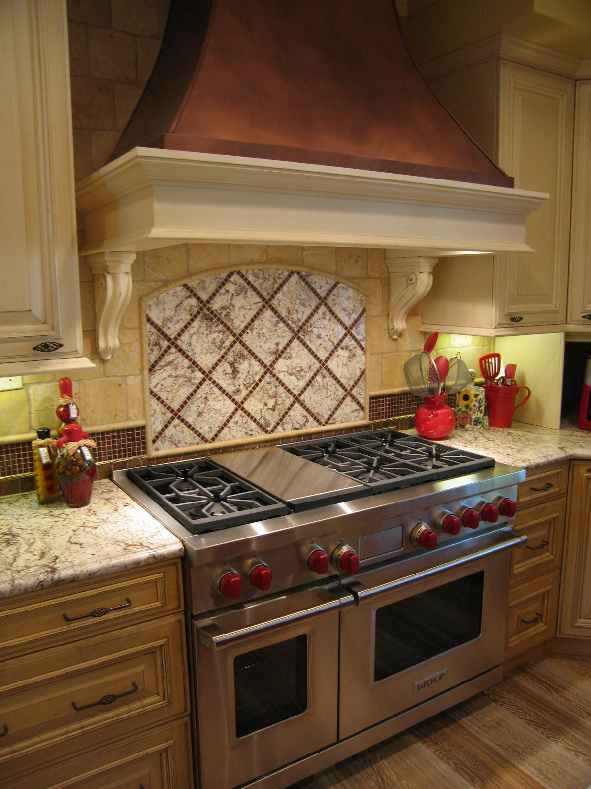 French Country Kitchen Range