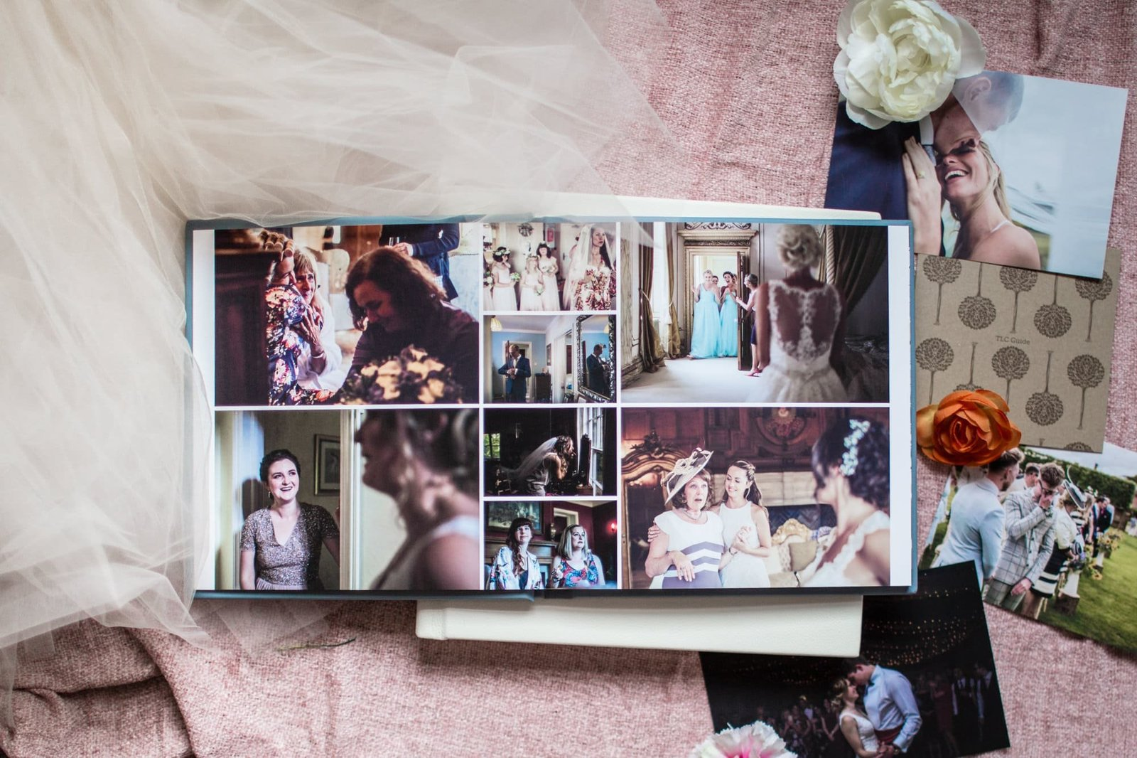 Examples of wedding photography albums