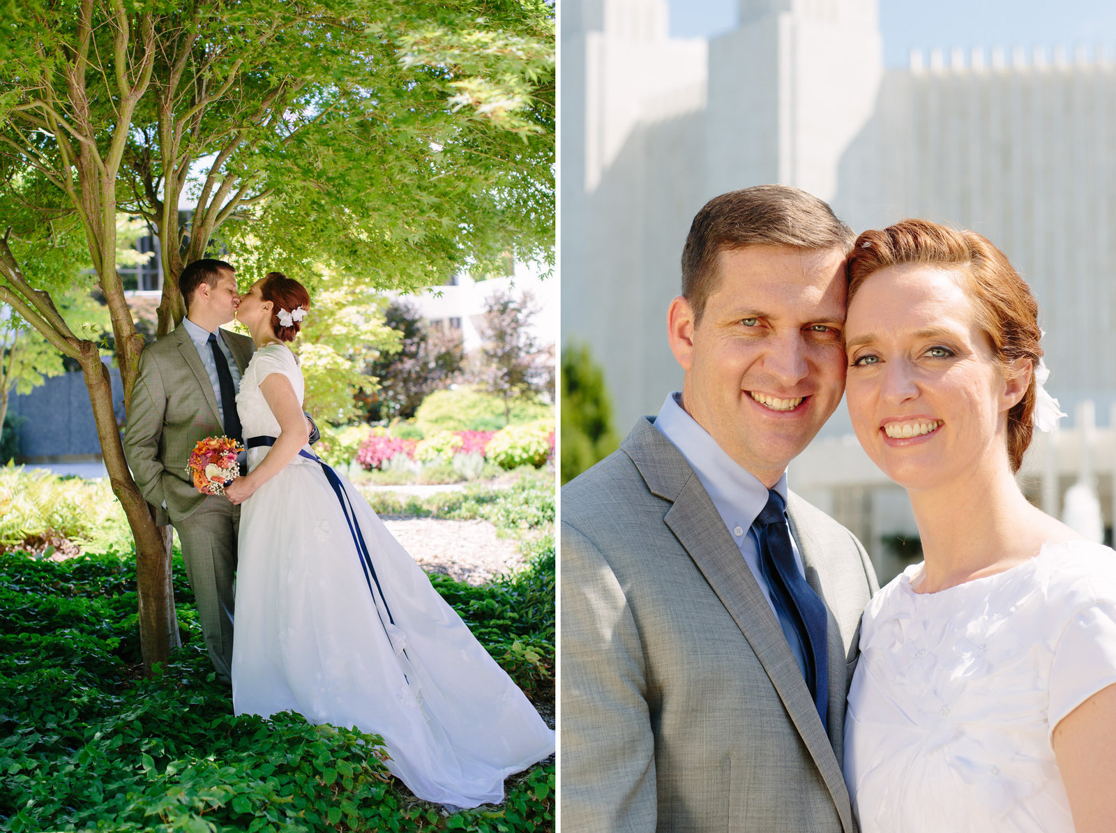 DC LDS Mormon Temple Wedding Portrait