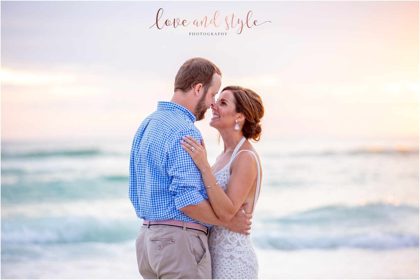 Bride and Groom Portrait on Bradenton Beach at The Beach House Restaurant