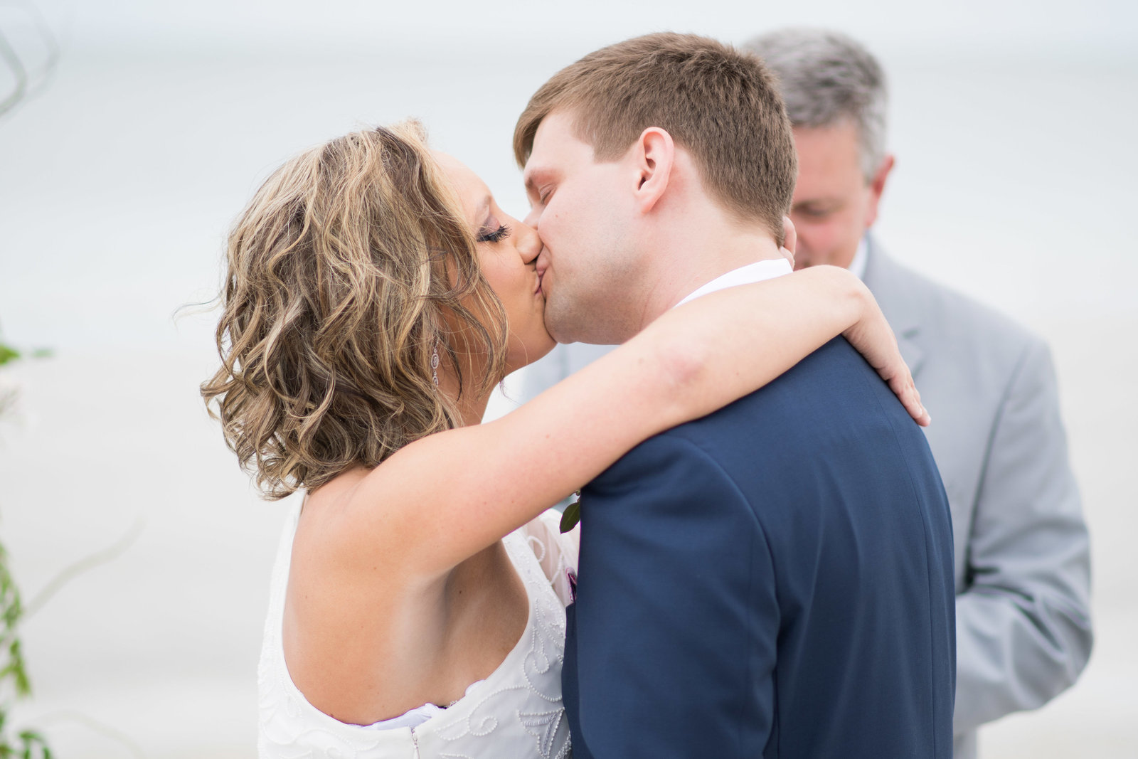 charlotte wedding photographer shot of Wedding Photography shot of bride and groom kissing