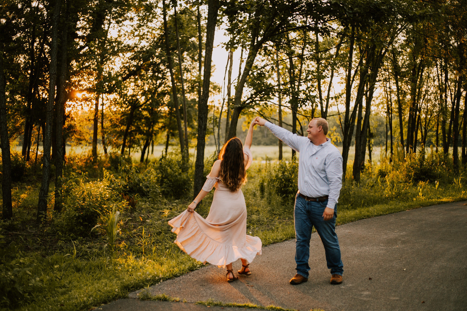 Golden-dancing-engagement-session-prophetstown-state-park-32