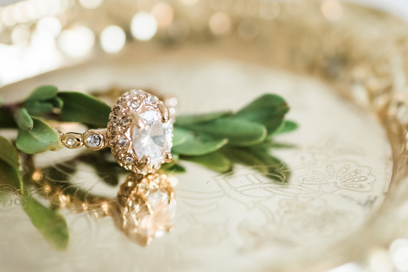 Tucson Stillwell House Wedding Photo of Vintage Gold Ring | Tucson Wedding Photographer | West End Photography