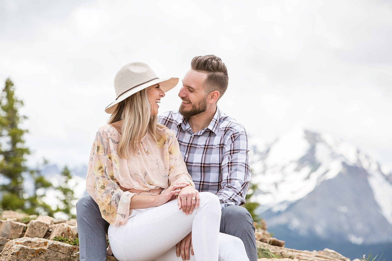 Proposal portrait in Colorado