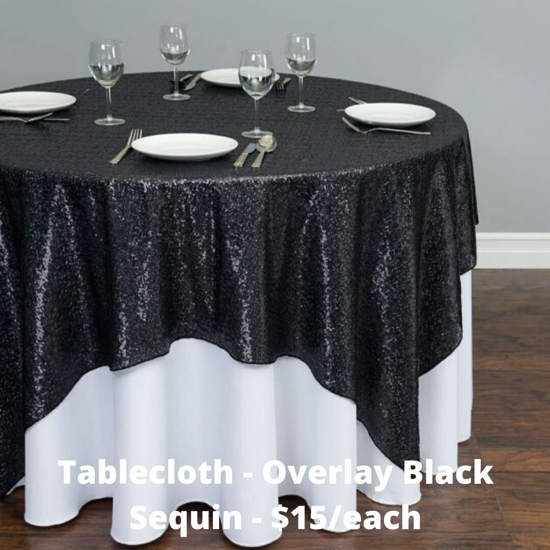 overlay black sequin