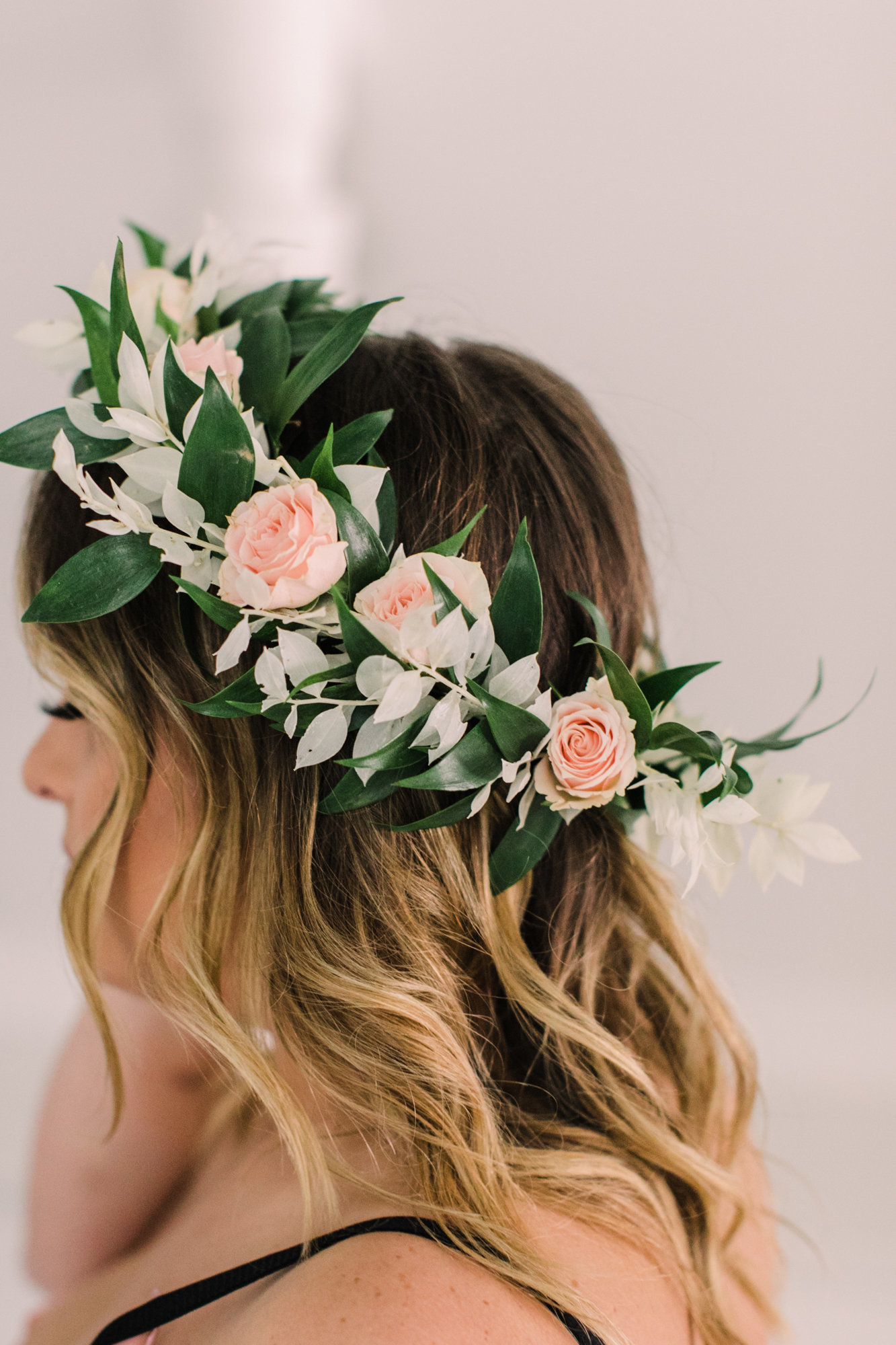 Floral crown for a boudoir photo