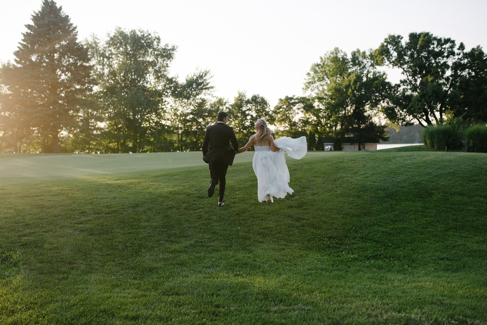 1 Wisconsin Wedding Couple Sunset Portrait - 9950