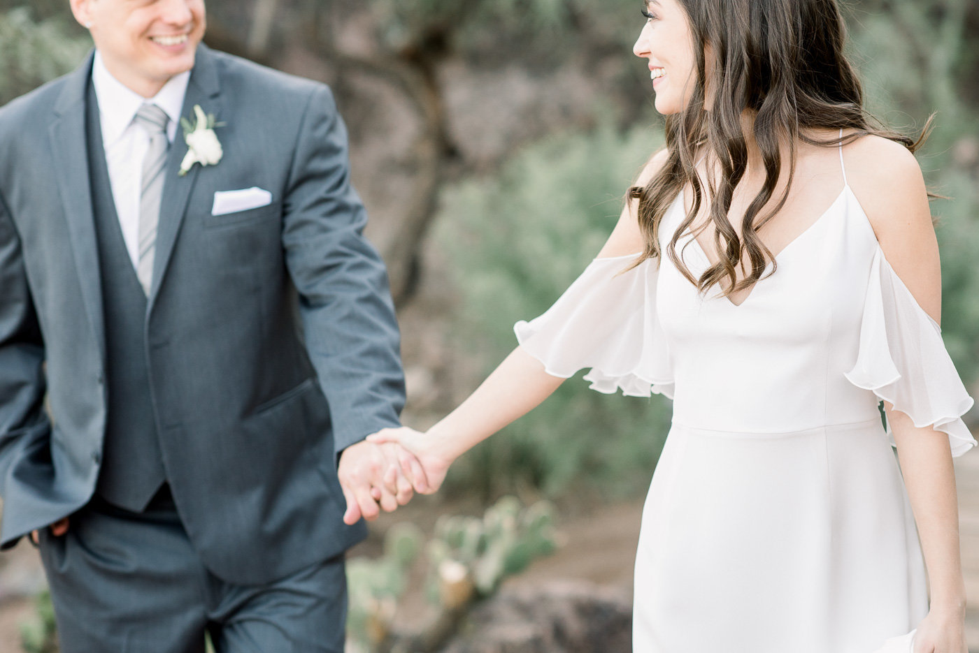 Arizona Desert Wedding Photo by Tucson Wedding Photographer Bryan and Anh