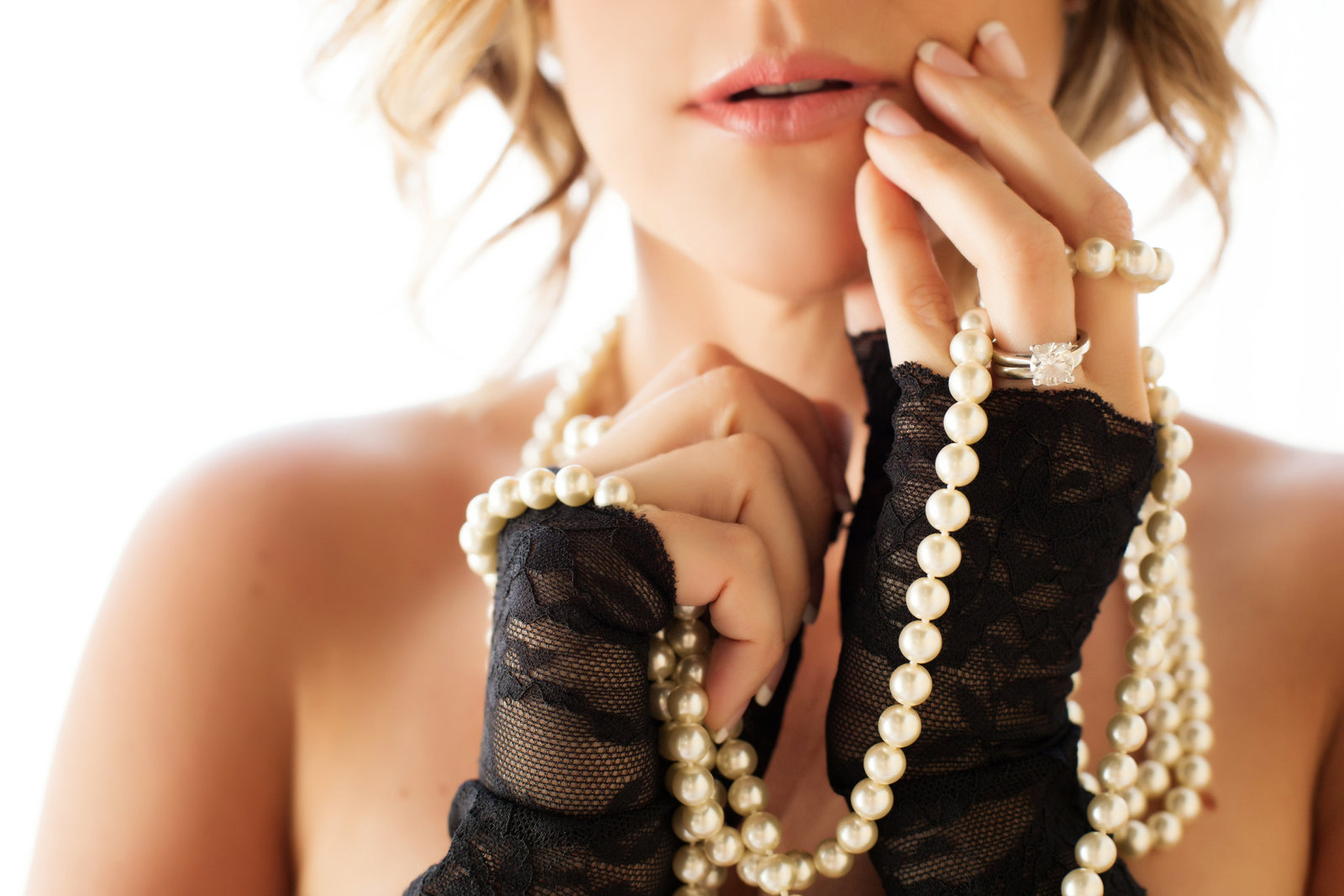 black lace pearls boudoir, scottsdale az boudoir photos
