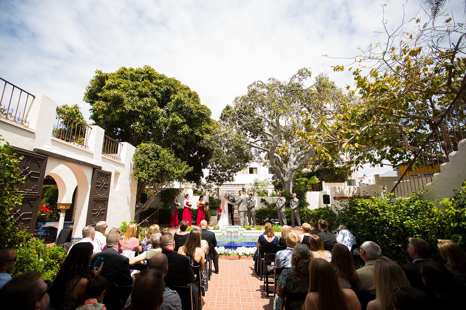 ceremony space at darlington house wide view