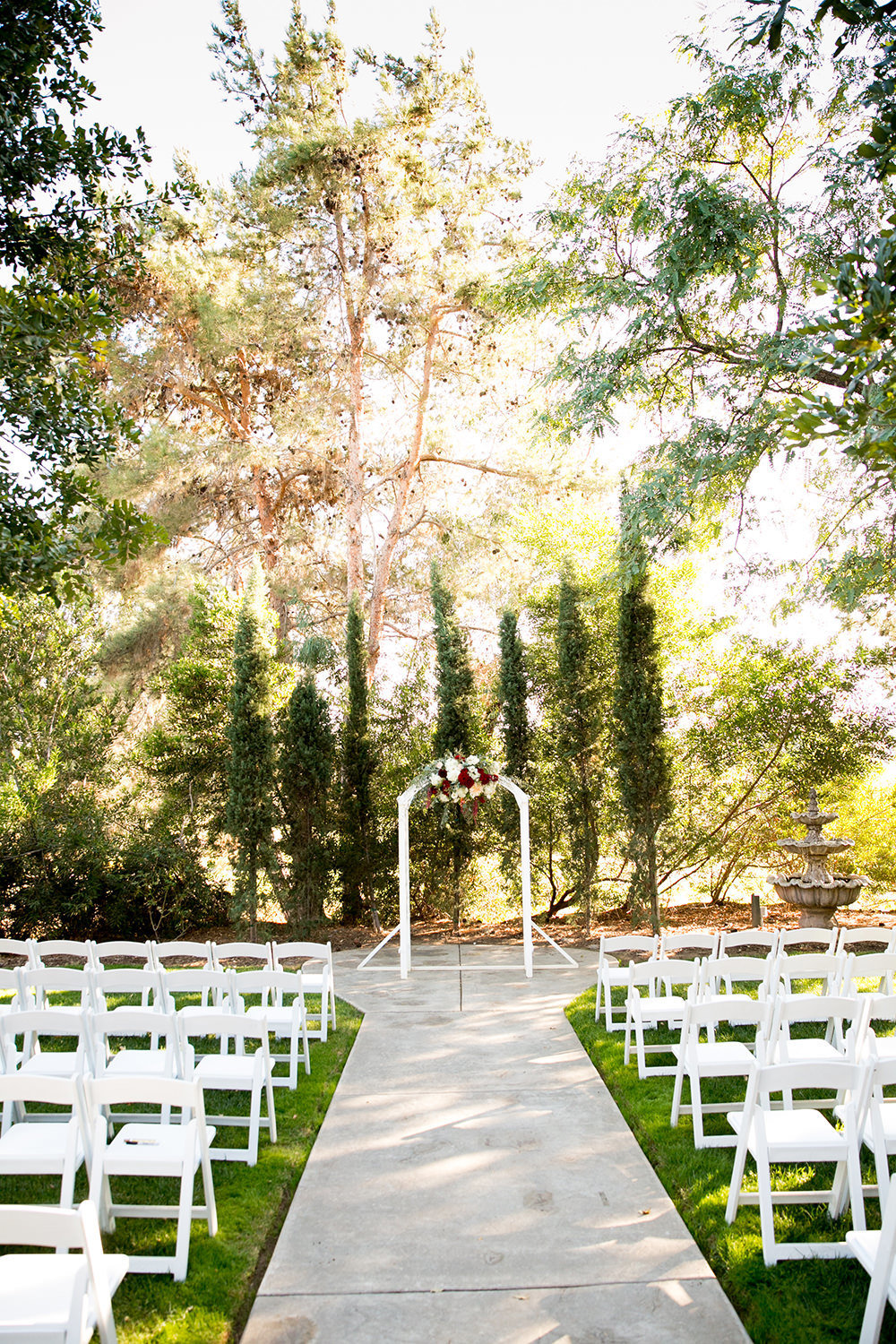 stunning ceremony space at carlton oaks