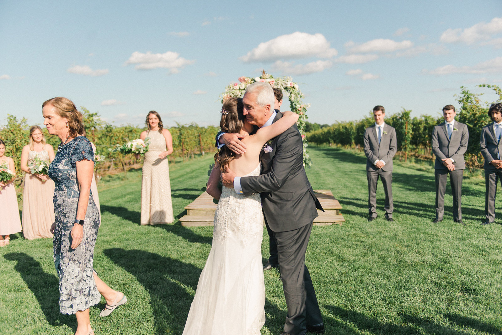 Saltwater Farm Vineyard Wedding Outdoor Ceremony_9