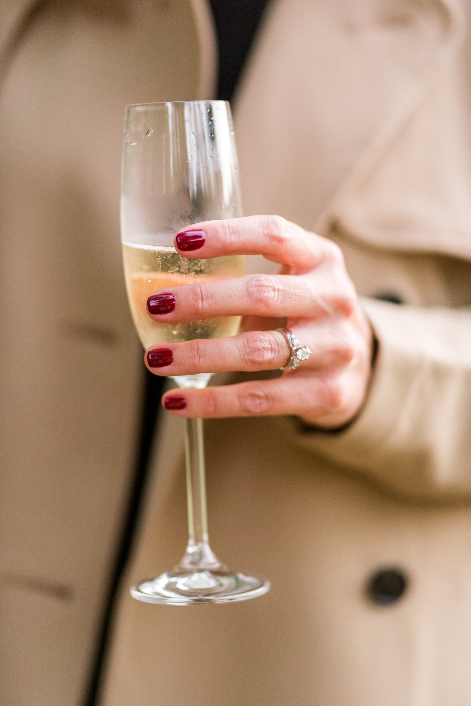 Engagement Ring Champagne