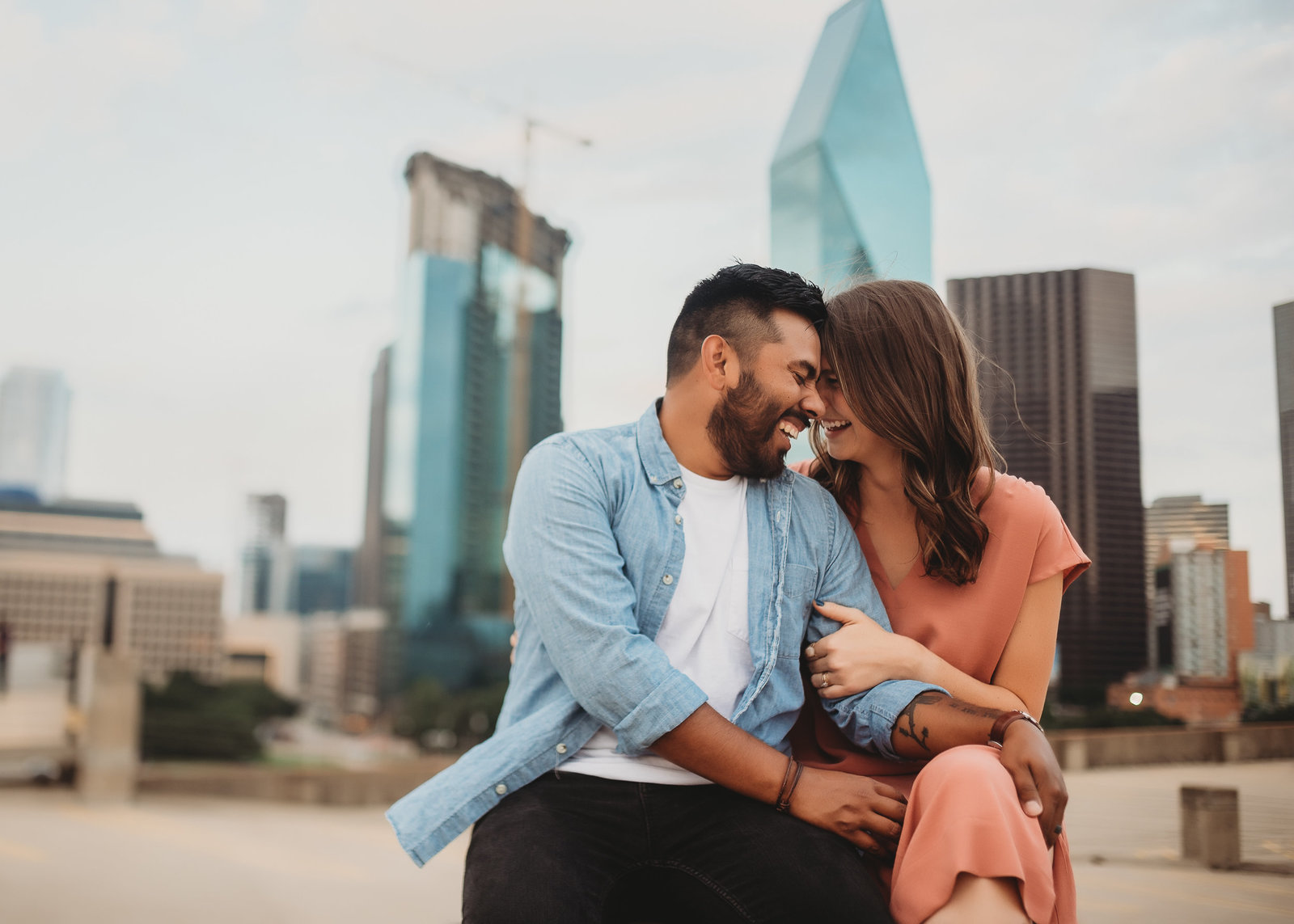 Downtown Dallas Engagement Session by McKinney Dallas Fort-Worth Metroplex Wedding Photographer