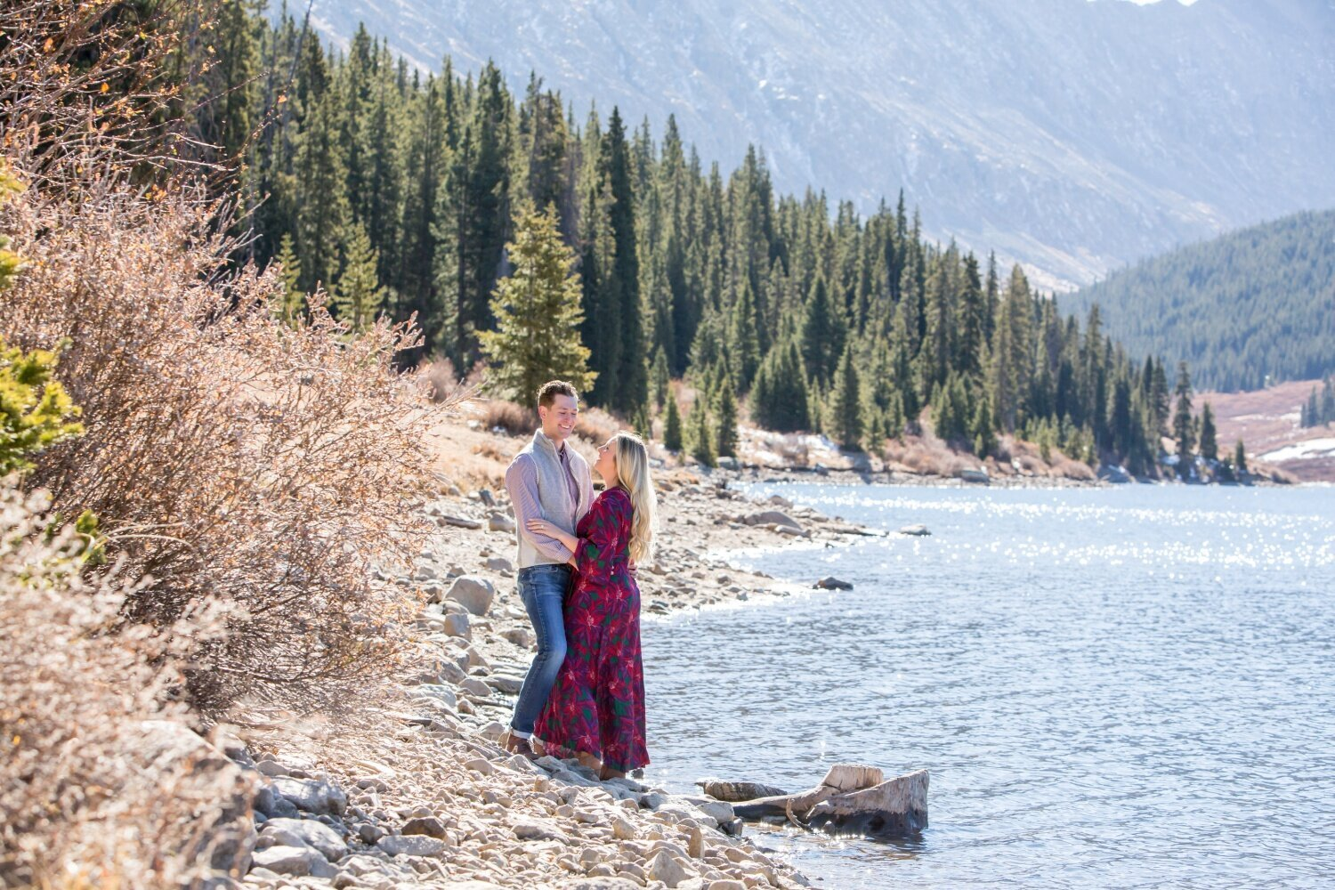 Engagement photos just outside of Breckenridge at Clinton Gulch Dam Reservoir