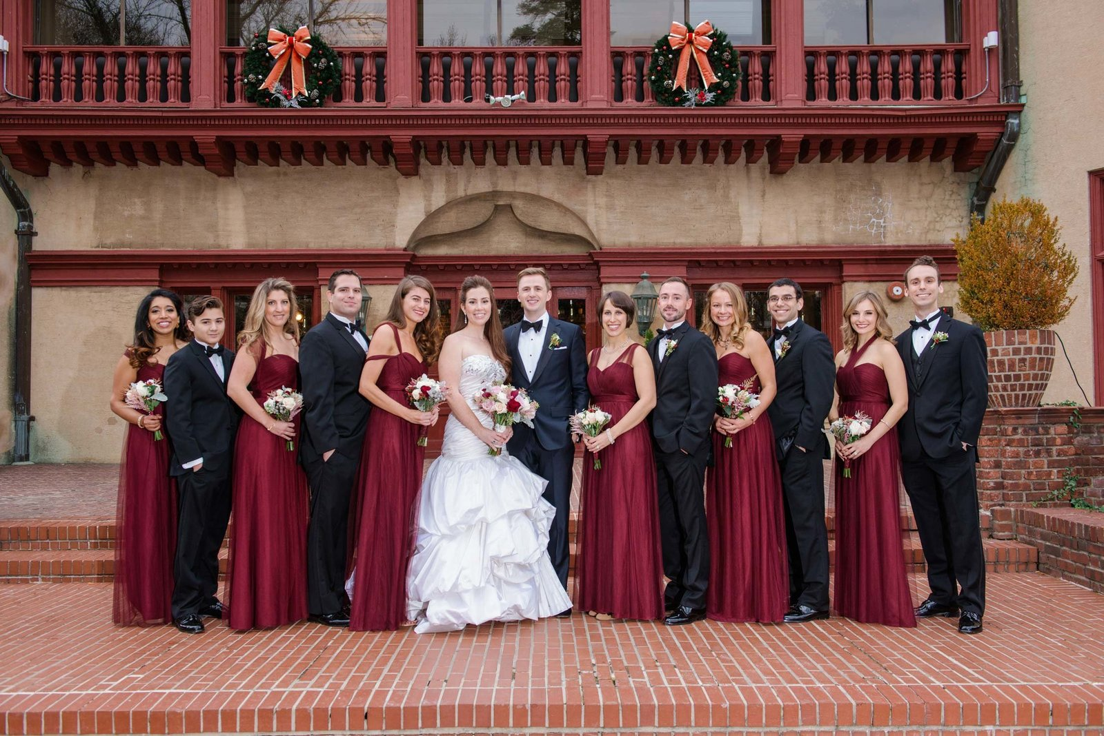 Coindre Hall bridal party photos