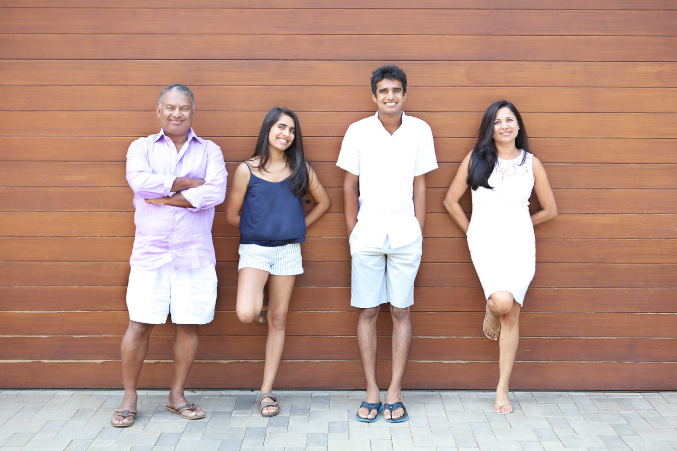 Teenager family portraits at home