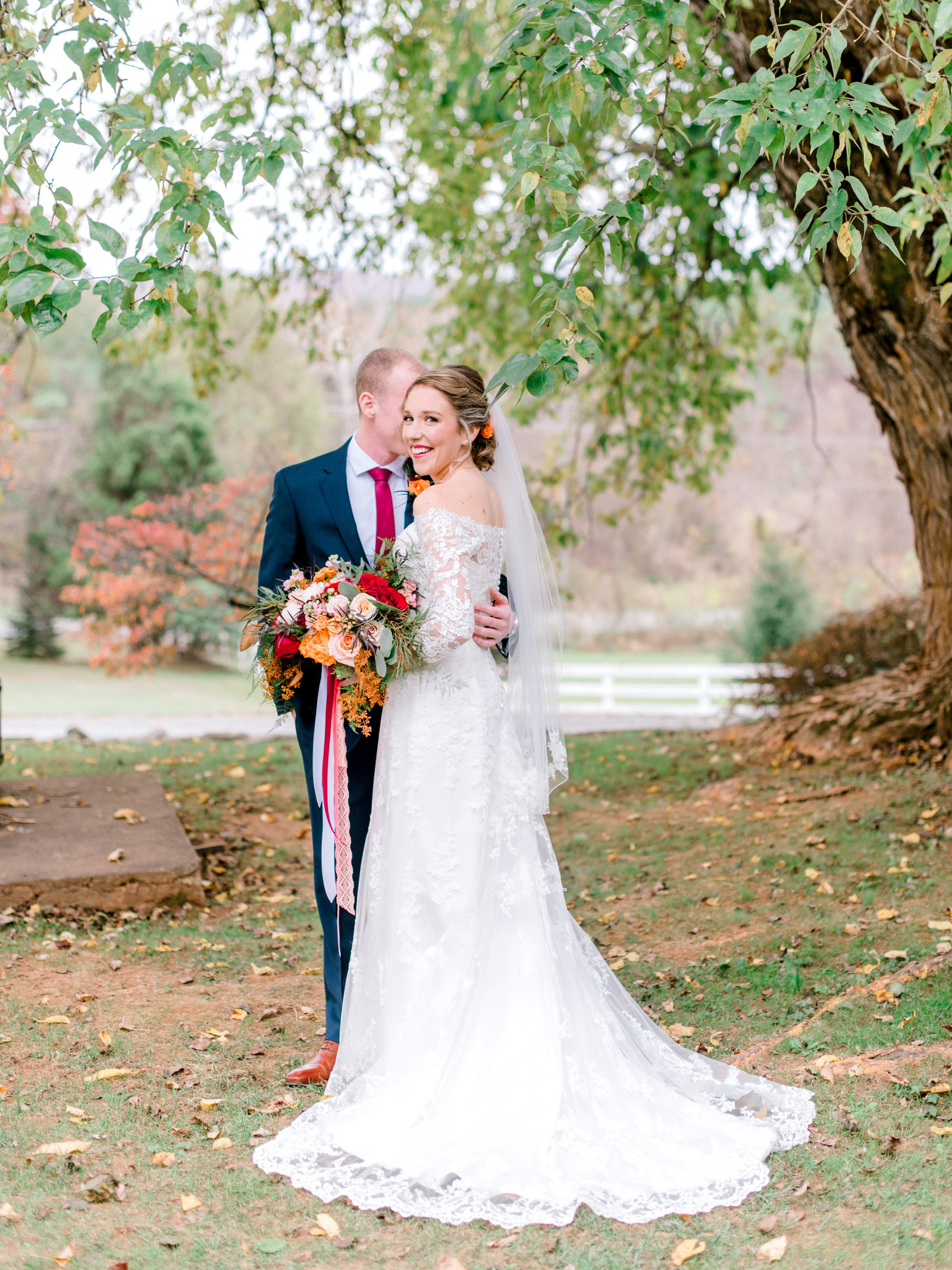 Northern Virginia Fall Wedding at Bed and breakfast