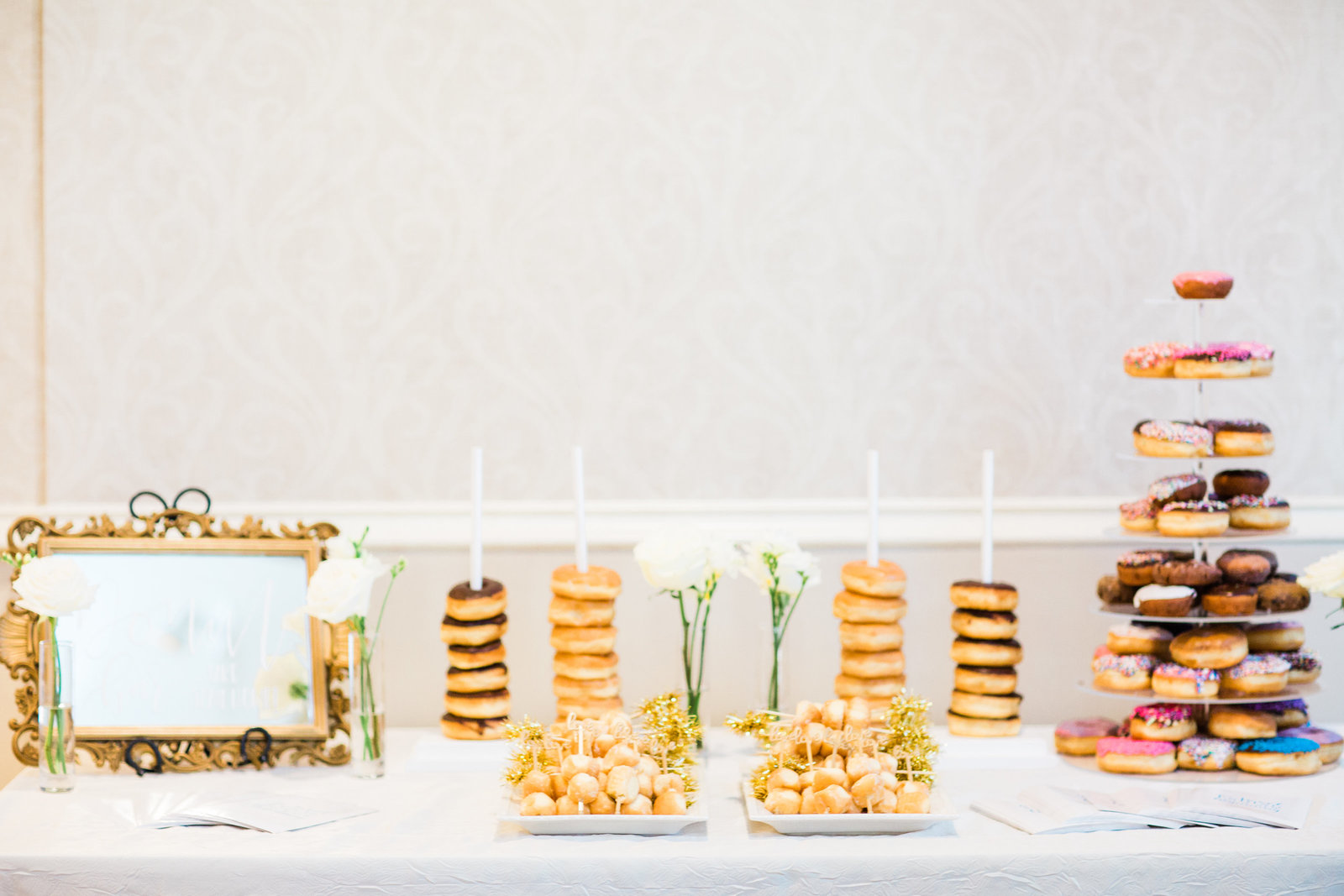 donut bar for country club reception