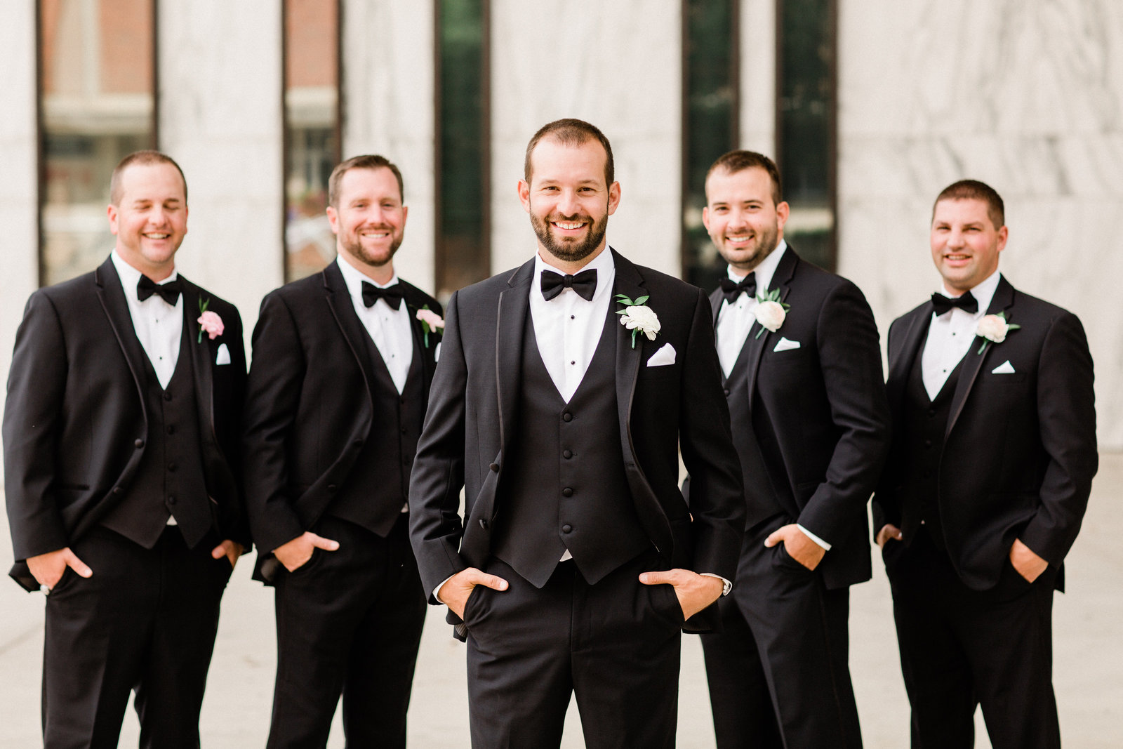Groom and groomsmen OSU