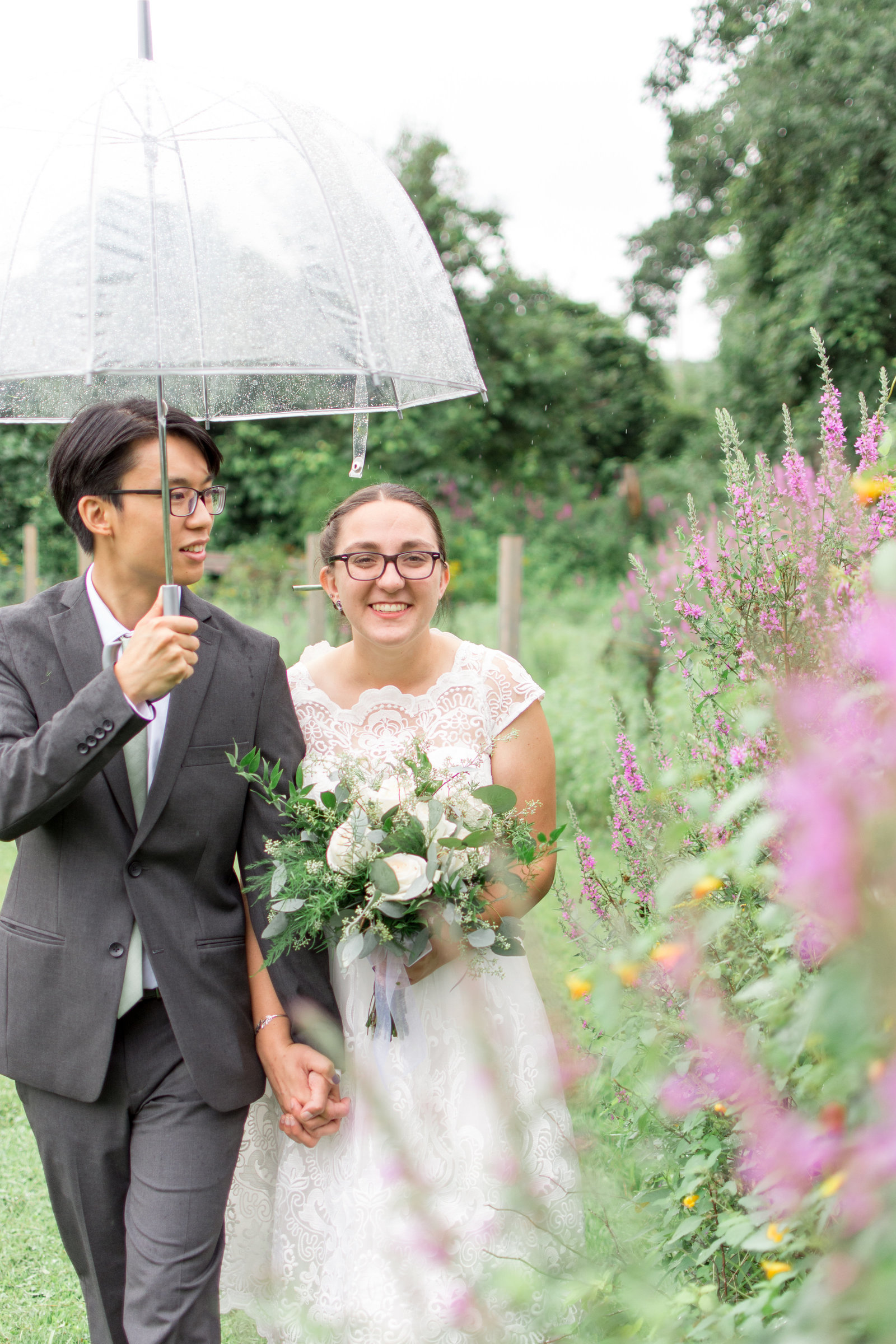 Garden Bride & Groom