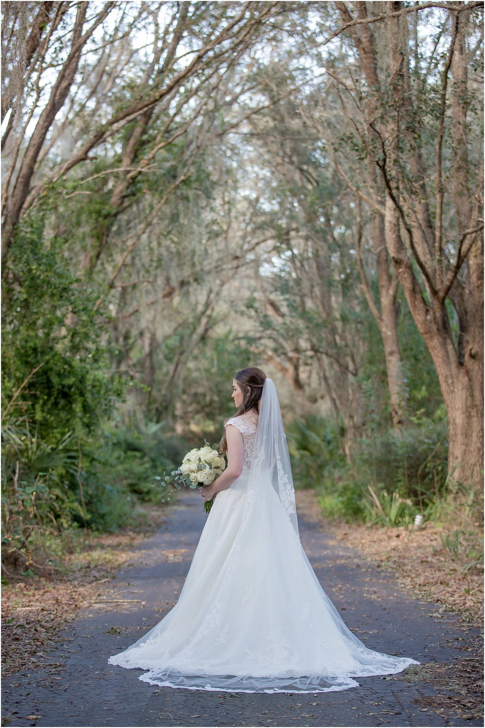 Bridal Portrait at The Barn at Chapel Creek in Venice, Florida