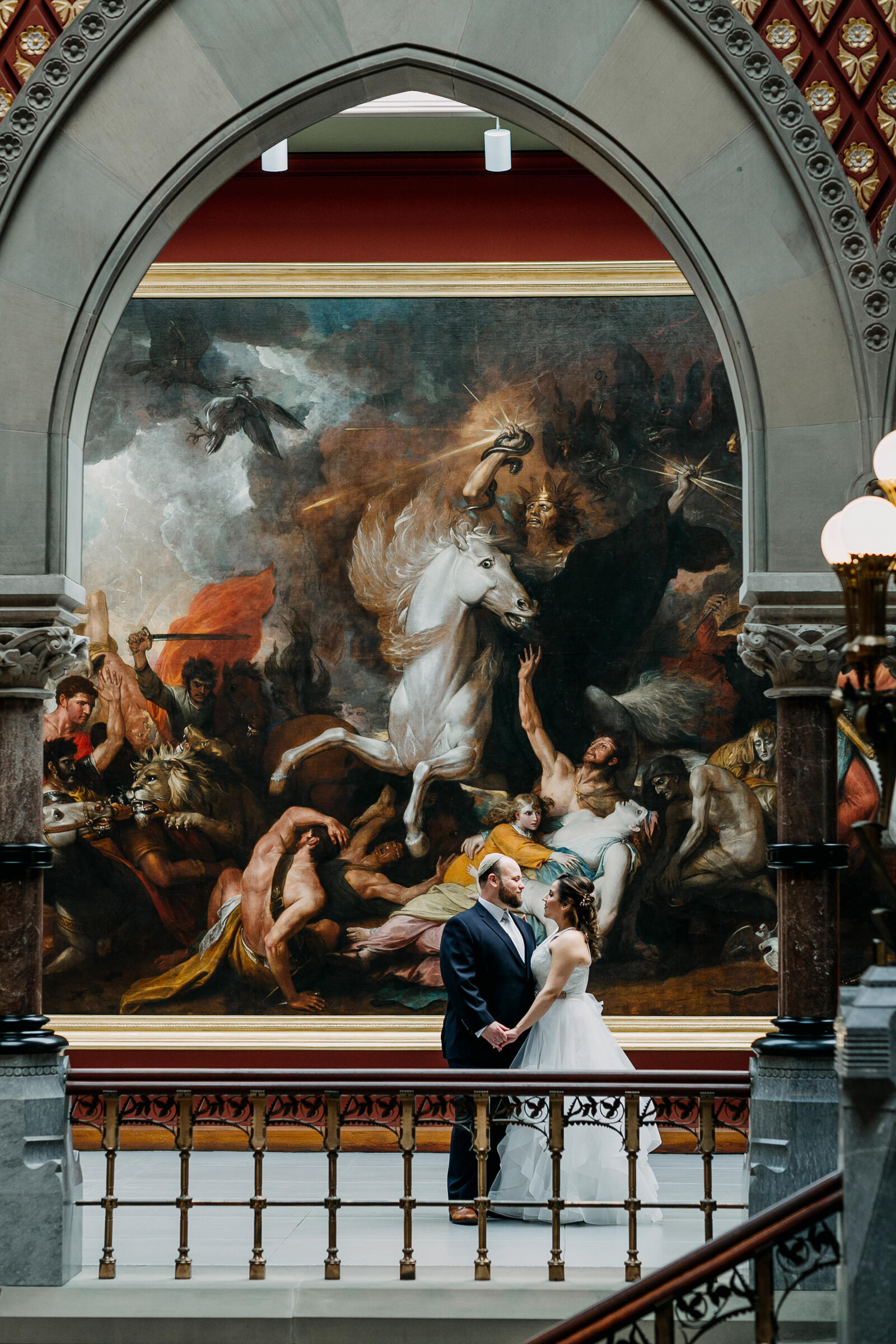couple at historic pafa painting