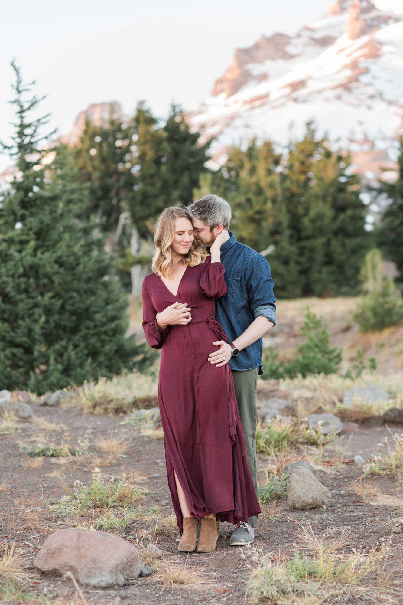 Timberline Lodge engagement photos