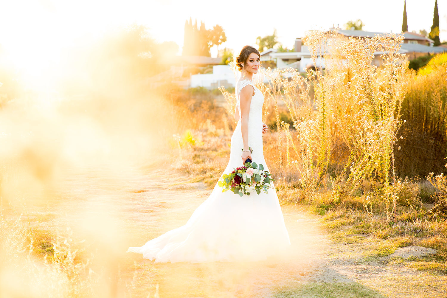 stunning bride image at carlton oaks country club