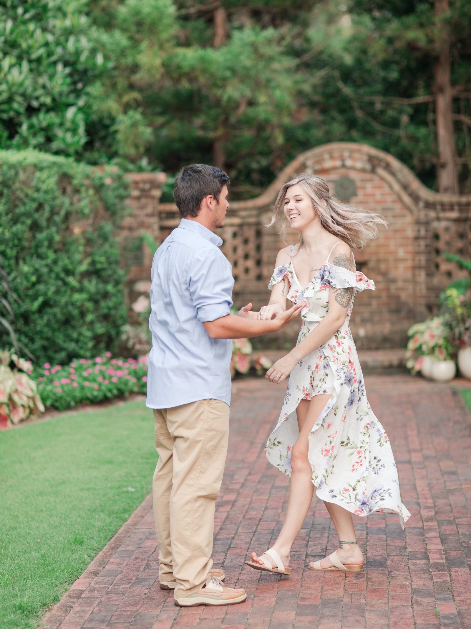 Jennifer B Photography-Sandhills Horticultural Gardens Engagement-Pinehurst NC-Cody and Kayla-2019-0184