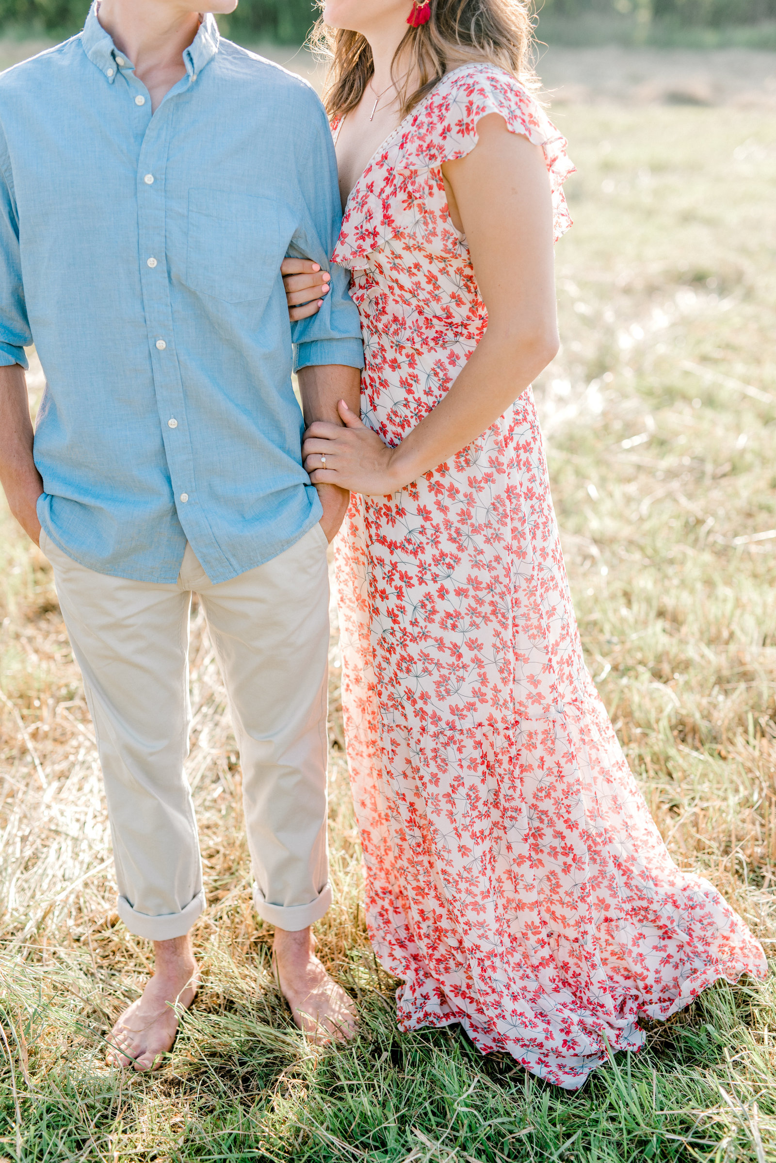 Couple in a field with dreamy light in PA