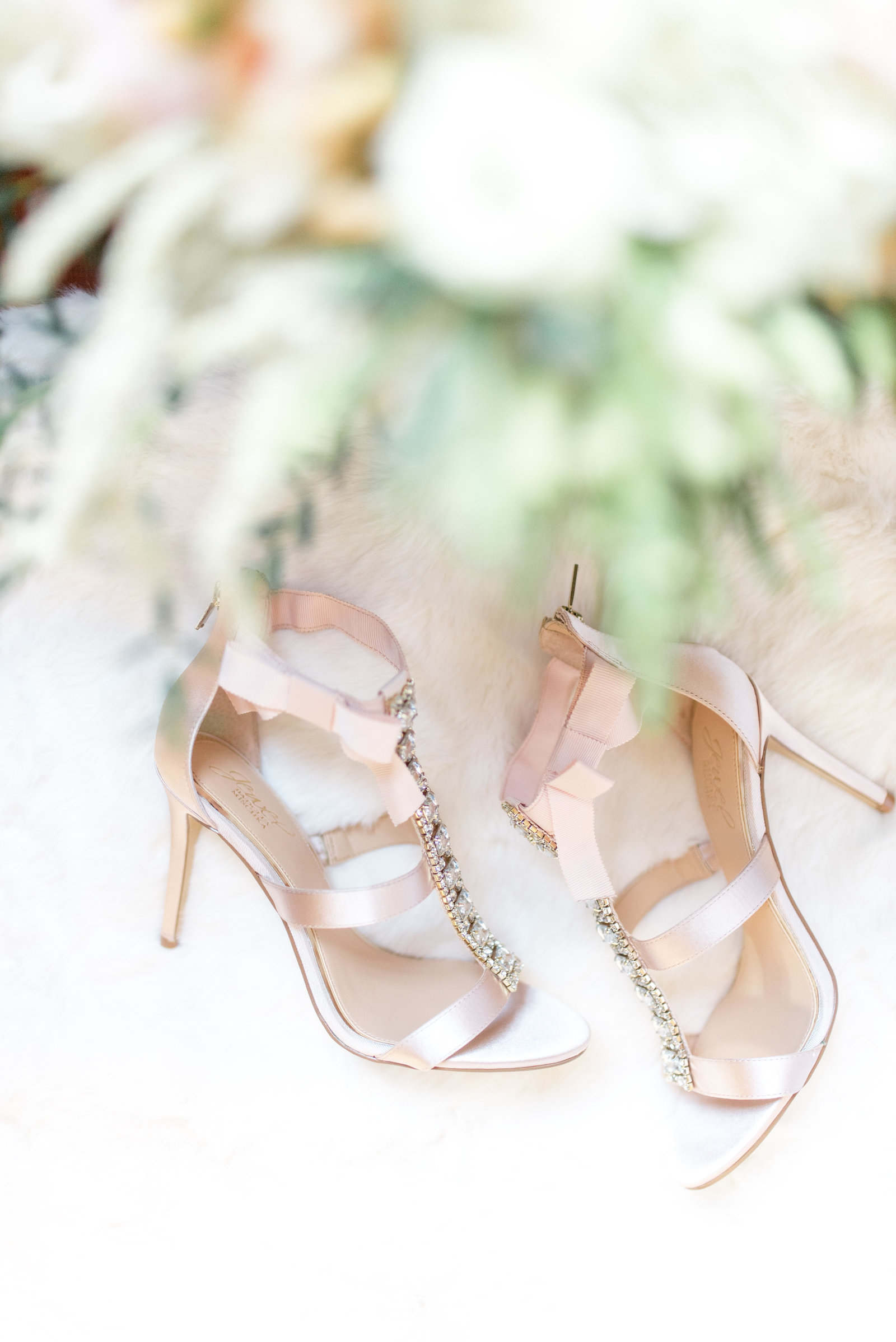 Badgley Mischka Blush Heels