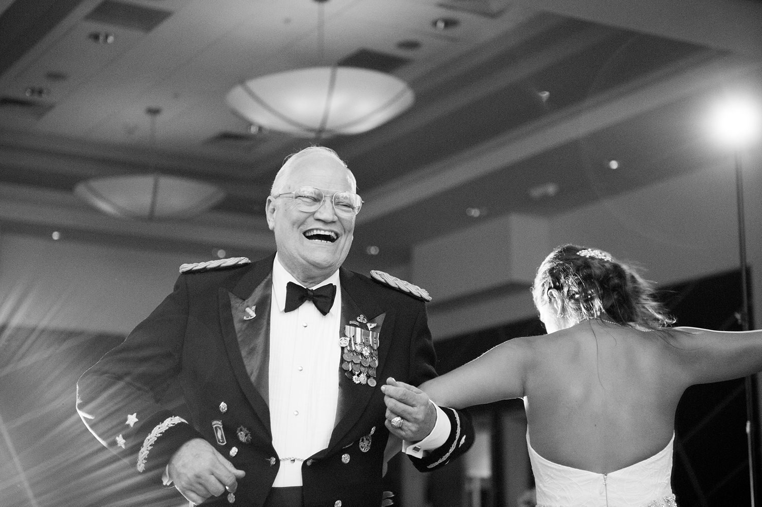 father daughter dance laughing