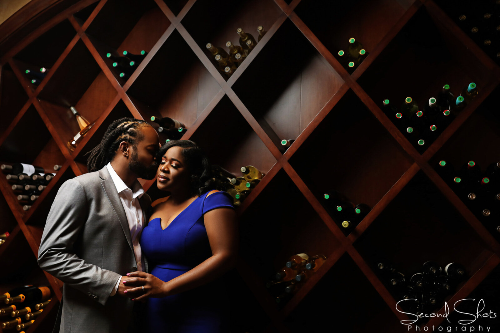 039 Wine Cellar Engagement Photos