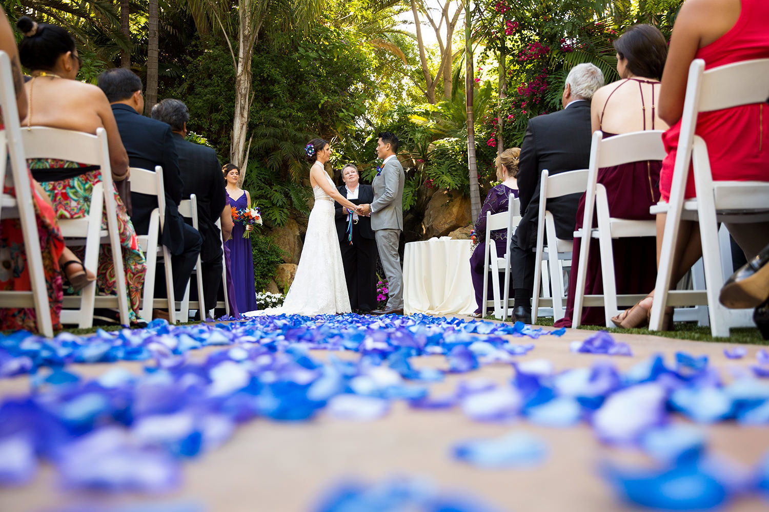 Creative angles for wedding ceremony photography