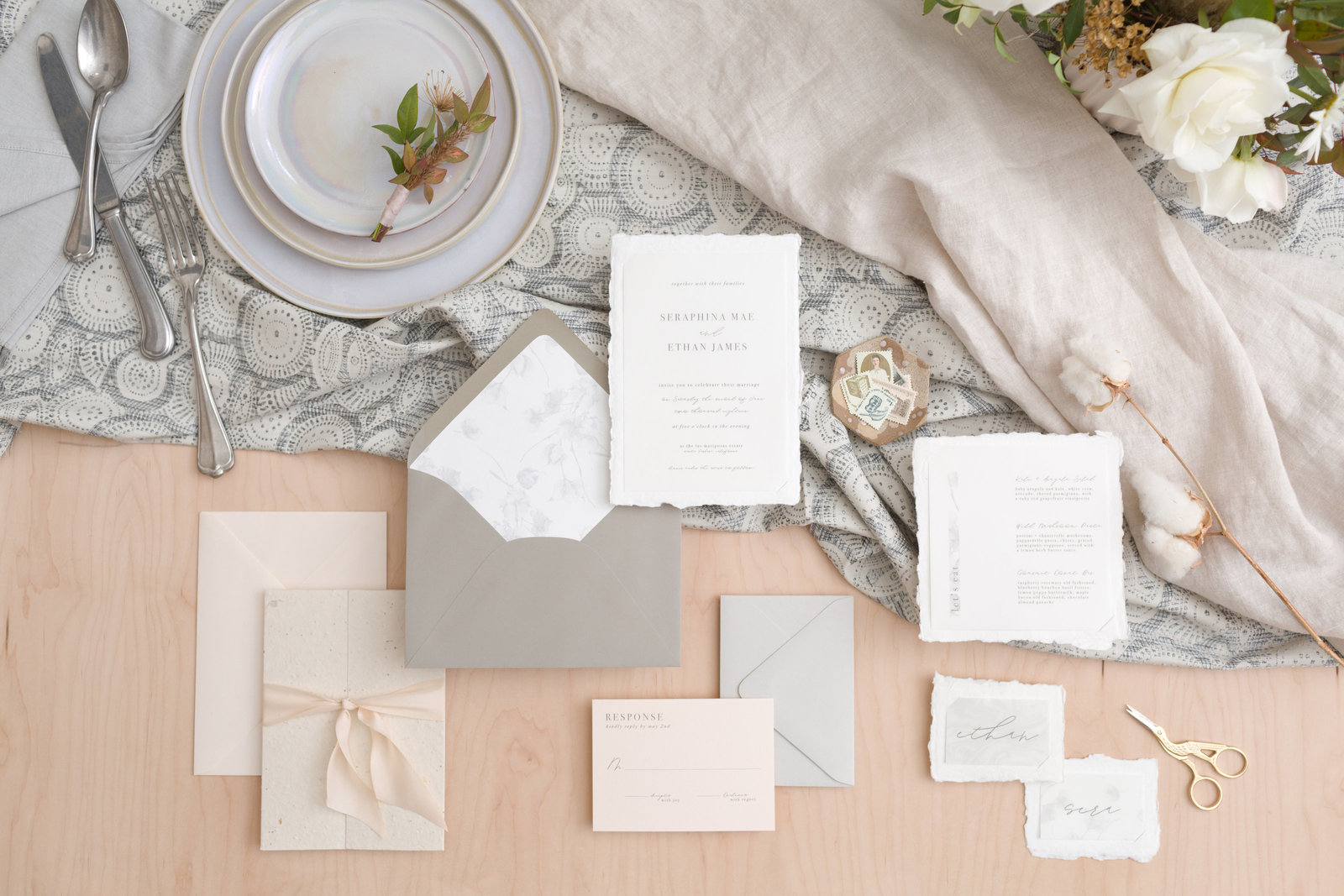 Custom stationery design Philadelphia wedding