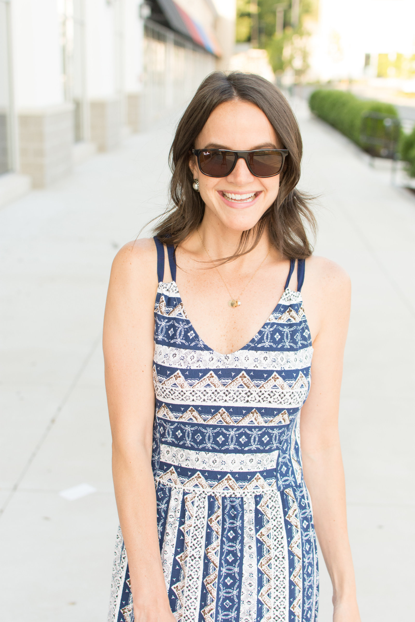 Blue Patterned Maxi