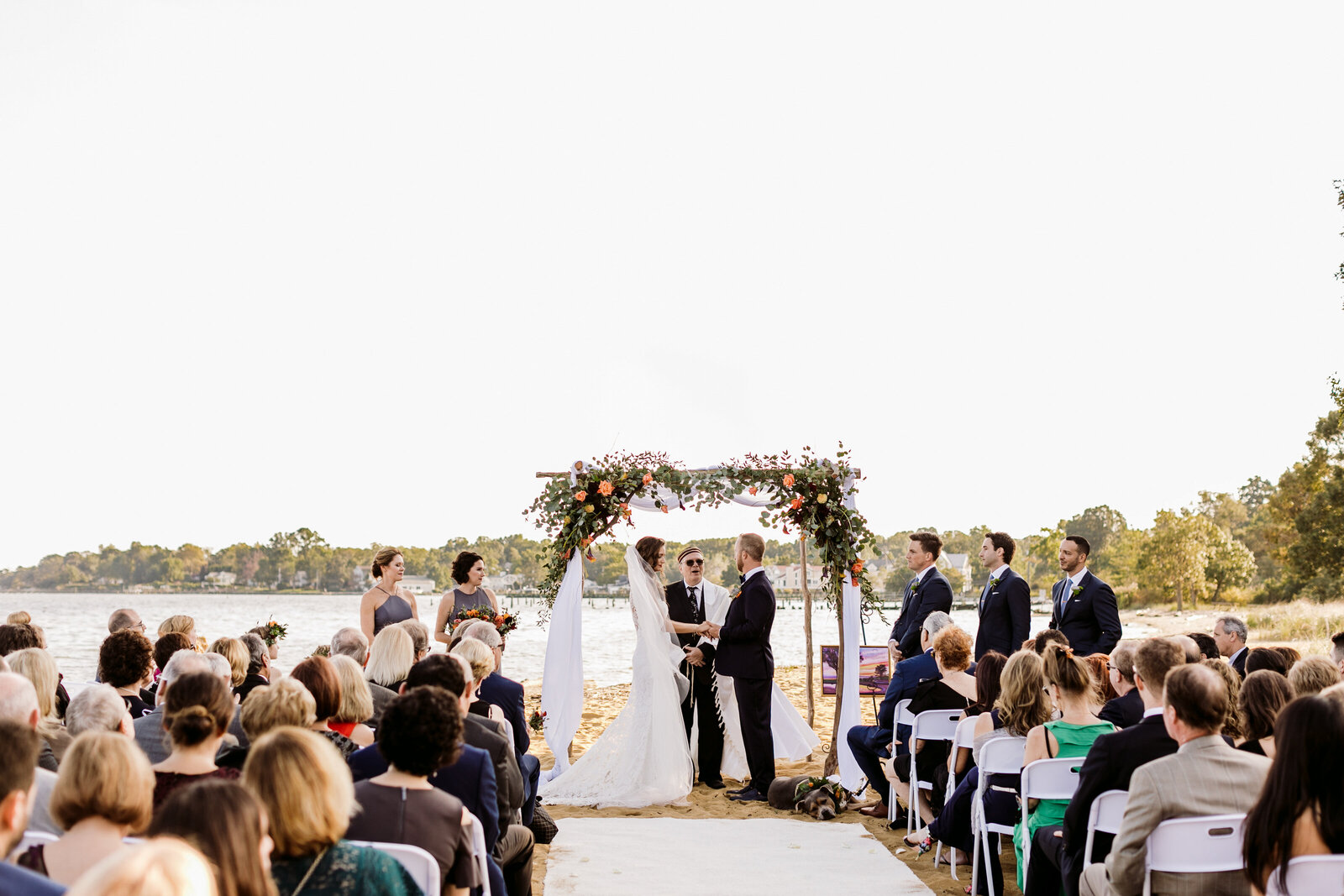 wedding ceremony on maryland beach